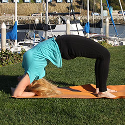 Yoga pose, Head Standing Bridge Pose