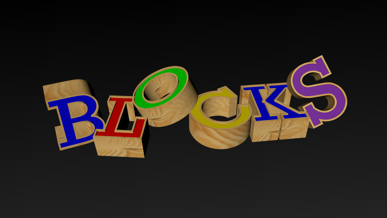 3D text created in Cinema4D