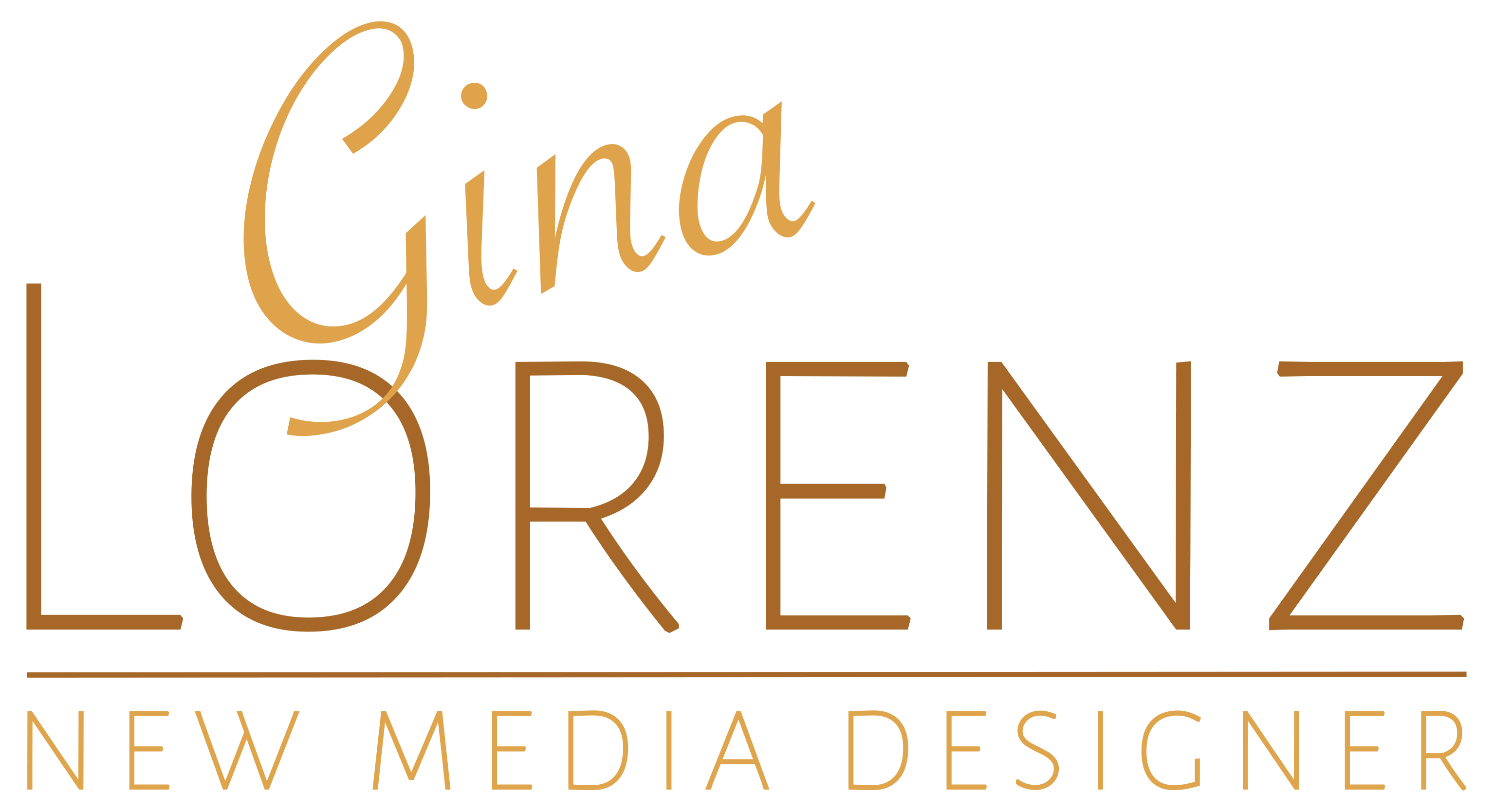 Gina Lorenz New Media Designer logo